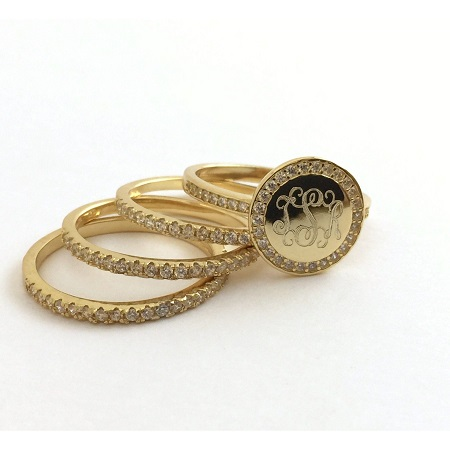 Monogrammed Engraved Rings