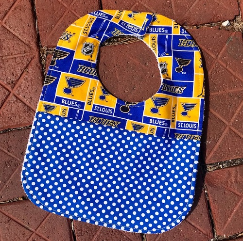 St. Louis Blues Hockey Baby Bib
