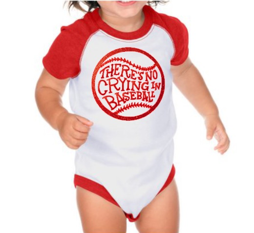 There's No Crying in Baseball Creeper Bodysuit Infant