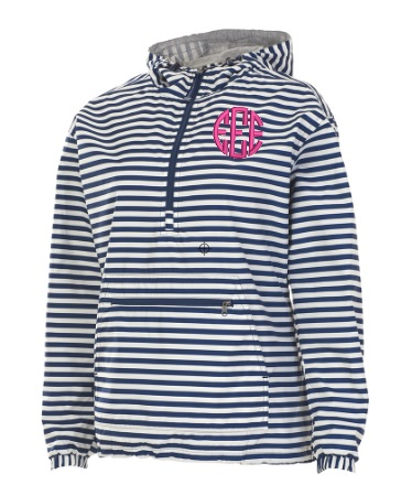 Monogrammed Charles River Rain Jacket Chatham Anorak Pullover