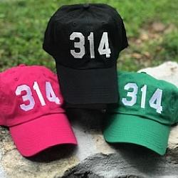 314 Area Code Baseball Hat St. Louis