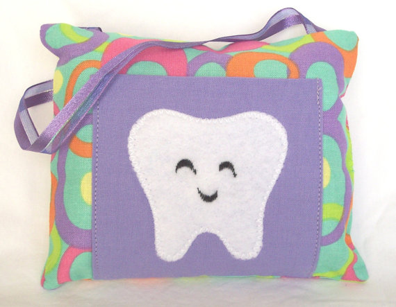 Girls Ovals Tooth Fairy Pillow by 3 Silly Monkeys