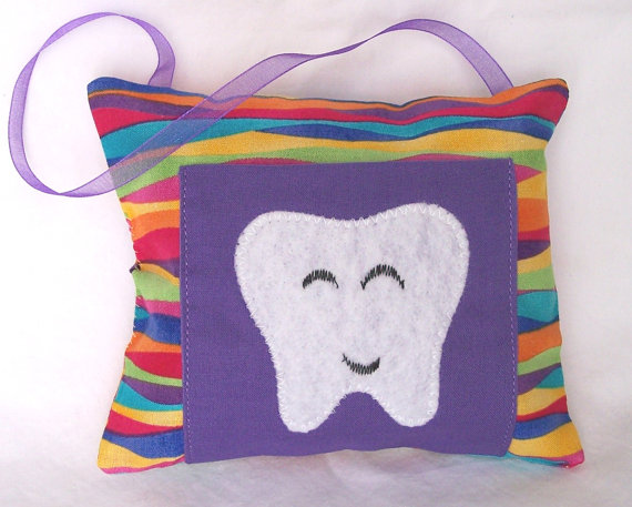 Girls Tooth Fairy Pillow Stripes by 3 Silly Monkeys