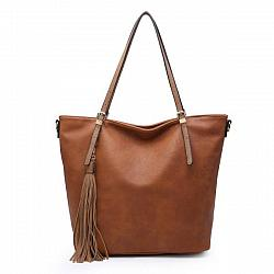 Brown Tassel Handbag Purse