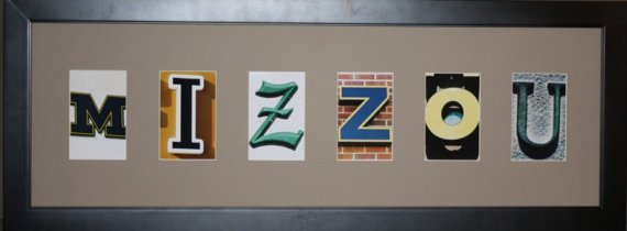 Mizzou Framed Art  by Letters By Landmark