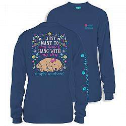 Simply Southern Hang With My Dog Long Sleeve T-shirt