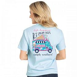 Simply Southern Life Happens Ice Cream Helps Tshirt Serendipity Gifts