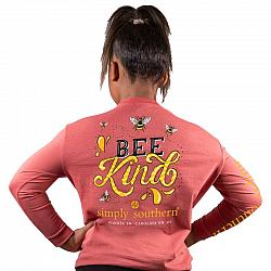Simply Southern Youth Bee Kind Shirt Long Sleeve