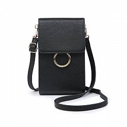 Black Cell Phone Crossbody Purse