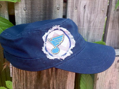 St. Louis Blues Hat Cadet Style Raggy Applique