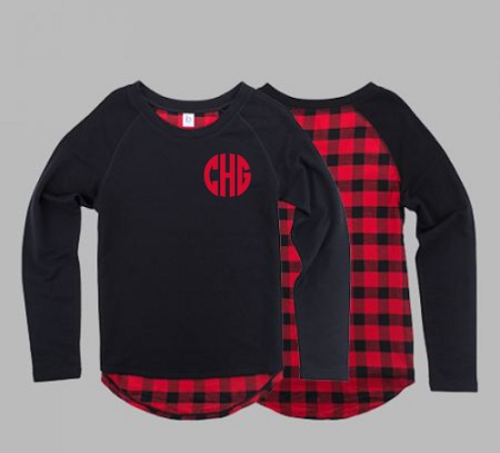 Monogrammed Plaid Jersey