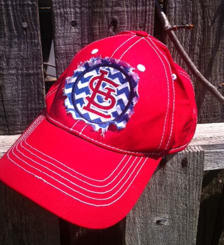 St. Louis Cardinals Raggy Applique Baseball Cap Hat