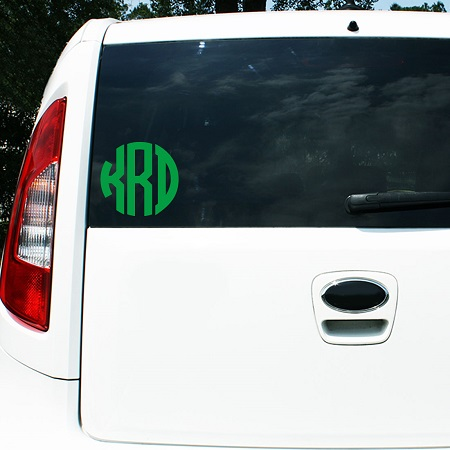Car Vinyl Monogram Decal Sticker 5""