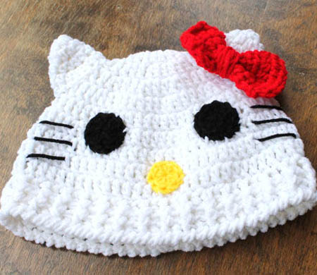 Hello Kitty Inspired Crochet Character Hat