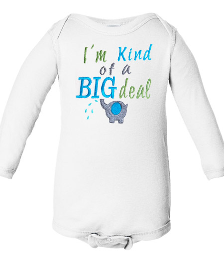 I'm Kind of a Big Deal Baby Boys Elephant Shirt