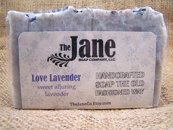 Handmade Bar Soap Love Lavender by The Jane Soap Company