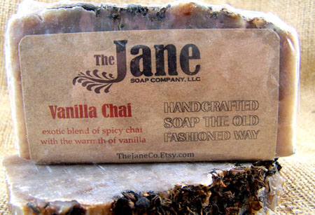 Handmade Bar Soap Vanilla Chai Soap by The Jane Soap Company