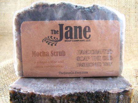Handmade Bar Soap Mocha Scrub Soap by The Jane Soap Company