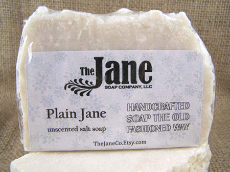 Handmade Bar Soap Plain Jane Salt Soap by The Jane Soap Company
