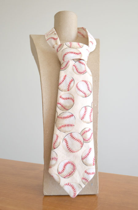 Cream Baseball Tie from Red Trike