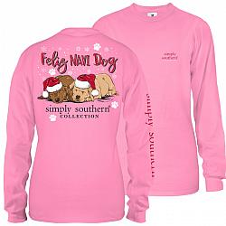 Simply Southern Youth Christmas Feliz Navidog Shirt