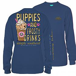 Simply Southern Youth Dog Frosty Coffee T Shirt