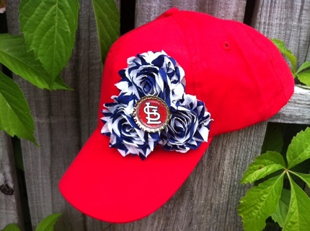 St. Louis Cardinals Embellished Shabby Baseball Cap Hat
